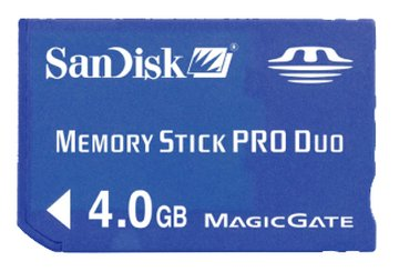 SANDISK MS PRO Duo 4G記憶卡