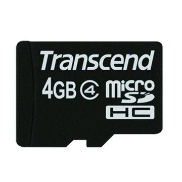 Transcend 創見Micro 4G CL4附轉卡記憶卡