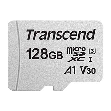 Transcend 300S Micro SDXC 128G UHS-I U3 A1 V30記憶卡(附轉卡)