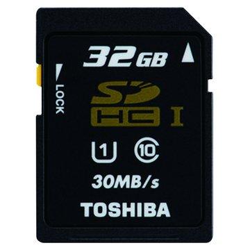 TOSHIBA 東芝 SDHC 32G UHS-I CL10(30MB\