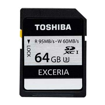 TOSHIBA EXCERIA PRO SDXC 64GB UHS-I U3(R95)記憶卡