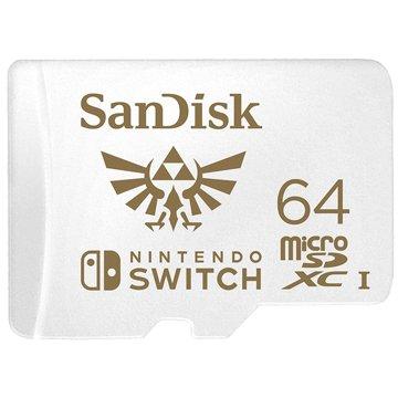 SANDISK  Nintendo  micro SDXC 64G任天堂授權專用記憶卡