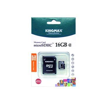 KINGMAX 勝創 Micro 16G CL4附轉卡記憶卡