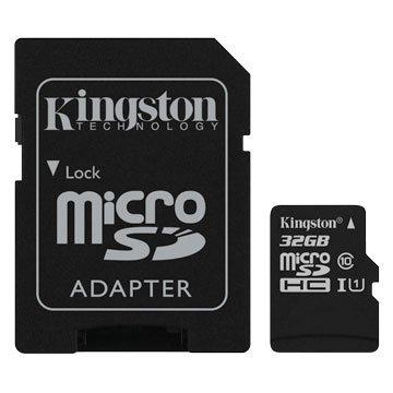 Kingston 金士頓 Micro 32G U1 C10附轉卡(讀80MB/s)