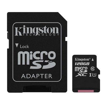Kingston 金士頓Micro 128G U1 C10附轉卡(讀80MB)