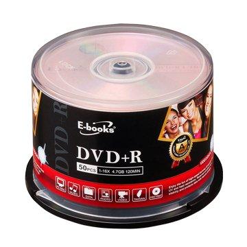 E-books  國際版 16X DVD+R/4.7G50片+布丁桶