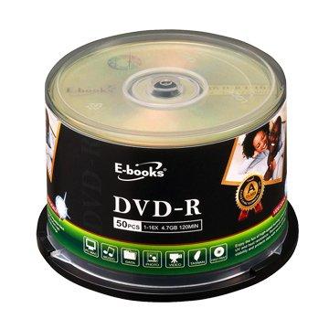 E-books 國際版 16X DVD-R/4.7G50片+布丁桶