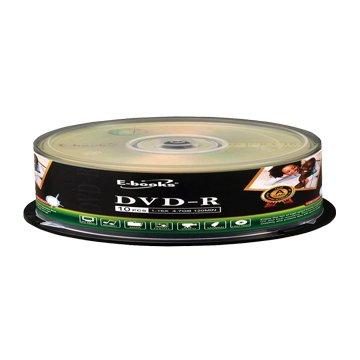 E-books  國際版 16X DVD-R/4.7G10片+布丁桶