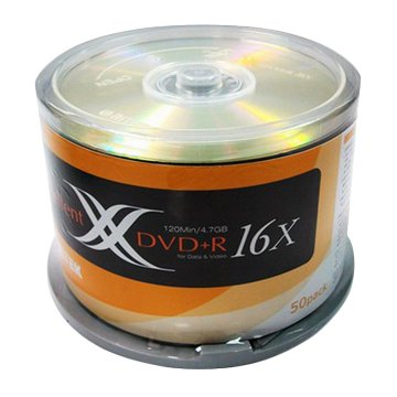 RITEK 錸德 錸德X版 16X DVD+R/4.7G50片+布丁桶