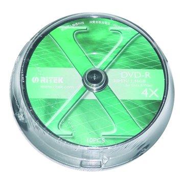 RITEK 錸德8cm 4X DVD-R/1.4G10片+布丁桶