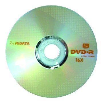 RIDATA 錸德 16X DVD+R/4.7G10片+布丁桶