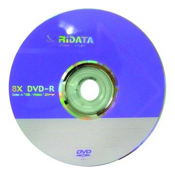 RIDATA 錸德 8X DVD-R/4.7G10片+布丁桶