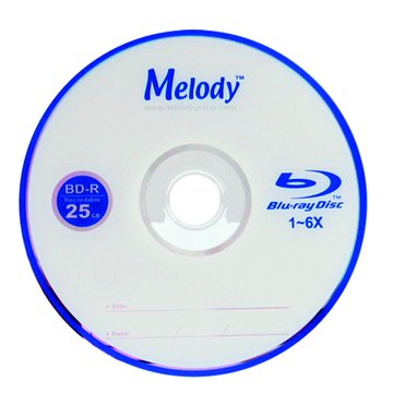 Melody 美樂蒂 藍光6X BD-R/25G135min10片裝