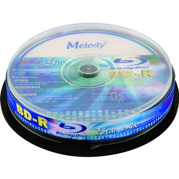 Melody 美樂蒂 藍光4X BD-R/25G10片布丁桶裝