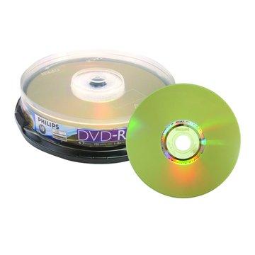PHILIPS 飛利浦 光雕16X DVD-R/4.7G10片+布丁桶