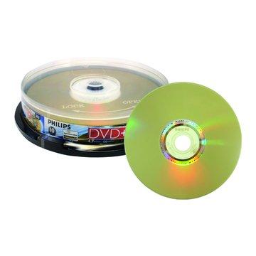 PHILIPS 飛利浦 光雕16X DVD+R/4.7G10片+布丁桶