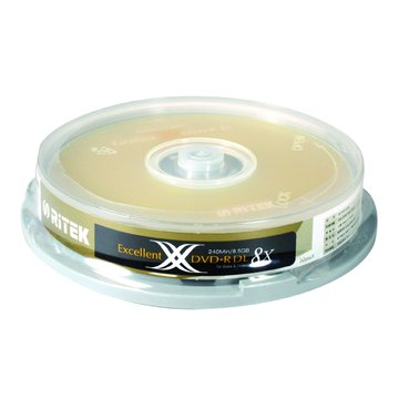 RITEK 錸德 8X DVD+R DL/8.5G10片+布丁桶