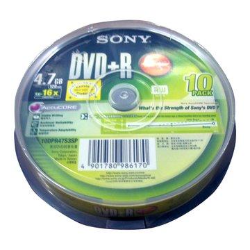 SONY 新力牌 16X DVD+R/4.7G10片+布丁桶