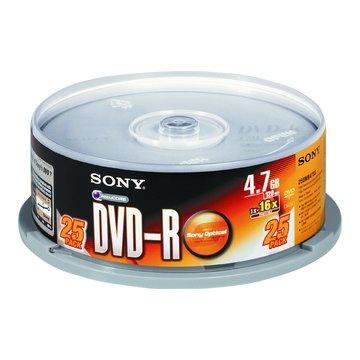 SONY 新力牌 16X DVD-R/4.7G25片+布丁桶