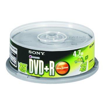 SONY 新力牌 16X DVD+R/4.7G25片+布丁桶