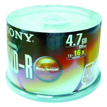 SONY 新力牌 16X DVD-R/4.7G50片+布丁桶