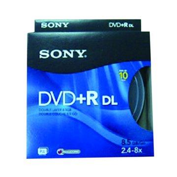 SONY 新力牌8X DVD+R DL/8.5G10片+布丁桶