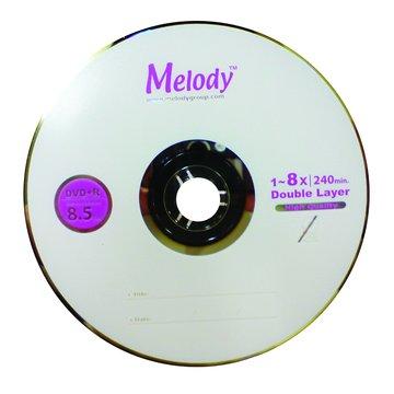 Melody 美樂蒂 8X DVD+R DL/8.5G25片+布丁桶