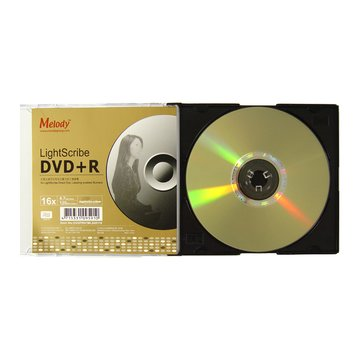 Melody 美樂蒂 光雕 16X DVD+R/4.7G單片裝
