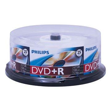 PHILIPS 飛利浦 16X DVD+R/4.7G 25片+布丁桶