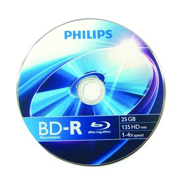 PHILIPS 飛利浦 藍光4X BD-R/25G135min單片裝