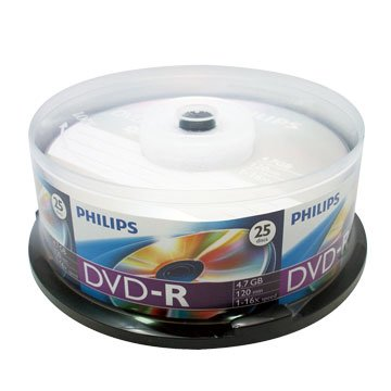 PHILIPS 飛利浦 16X DVD-R/4.7G25片+布丁桶