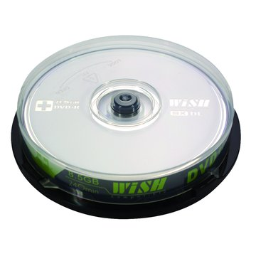Wish 8X DVD+R DL/8.5G10片+布丁桶