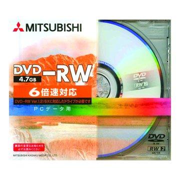 MITSUBISHI 三菱 三菱 6X DVD-RW/4.7G單片裝