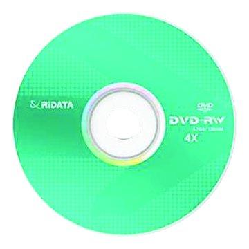 RIDATA 錸德  4X DVD-RW/4.7G10片+布丁桶