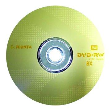 RIDATA 錸德 8X DVD+RW/4.7G10片+布丁桶