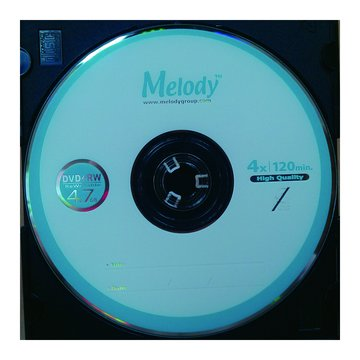 Melody 美樂蒂 4X DVD+RW/4.7G單片精裝