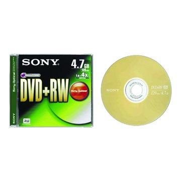 SONY 新力牌 4X DVD+RW/4.7G單片裝