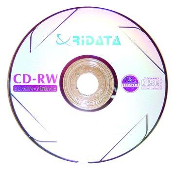 RIDATA 錸德  80分4X-12X CD-RW 10片盒裝