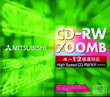 MITSUBISHI 三菱 三菱 80分12X CD-RW 單片裝
