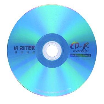 RITEK 錸德  彩虹藍白金80分52X50片