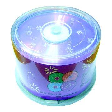 RITEK 錸德繁花(紫)白金52X50片+布丁桶