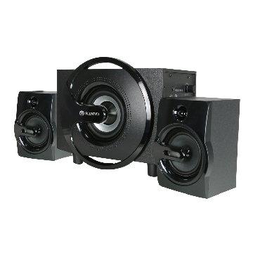 KINYO 金葉 KY-1605/黑/木質三件式喇叭