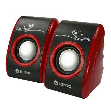 KINYO 金葉 US-171/黑紅/二件式USB喇叭
