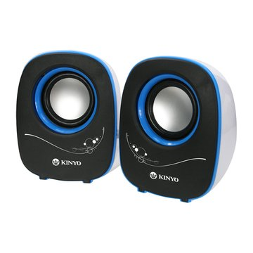 KINYO 金葉 US-170/黑白/二件式USB喇叭