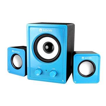 KINYO 金葉US-179BU/藍/三件式USB喇叭