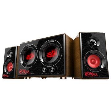 T.C.STAR 連鈺TCS3429RD/紅/三件式電競喇叭/35W