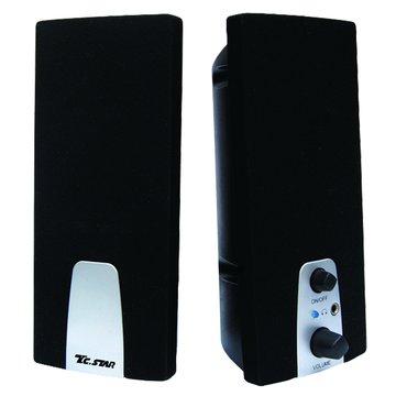 T.C.STAR 連鈺TCS2281/黑/二件式喇叭