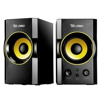 T.C.STAR 連鈺TCS2423/黑金/二件式/木質喇叭/USB供電