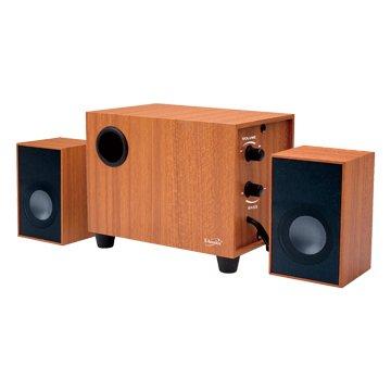 E-books D27 三件式重低音2.1聲道木質多媒體喇叭