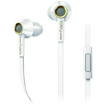 PHILIPS 飛利浦 Fidelio S2(白)耳塞式耳麥(手機用)(福利品出清)